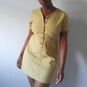 Sunny Yellow A-line Summer Minidress